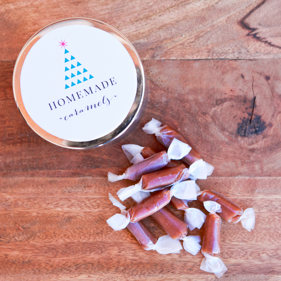 homemade caramels and a free printable!