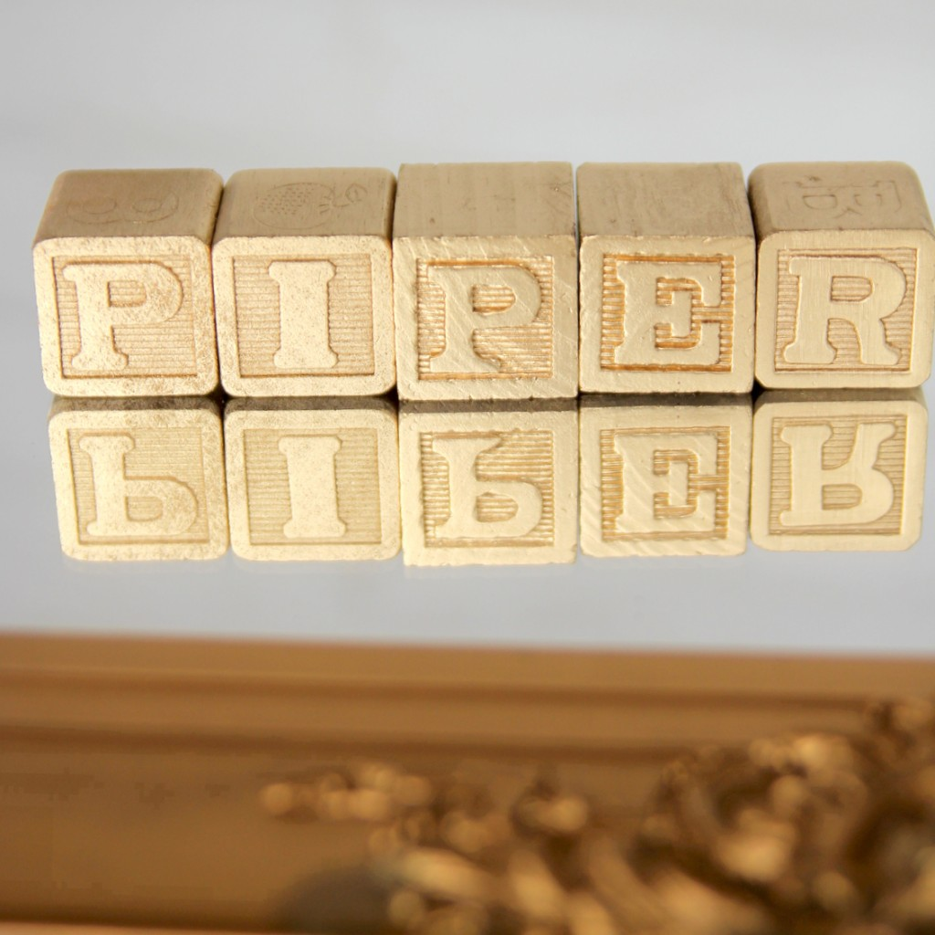 DIY metallic alphabet blocks