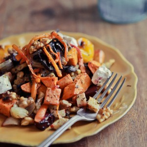 vegetable root salad: my whole30 go-to meal