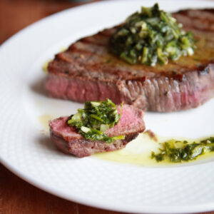 chimichurri: herb steak sauce