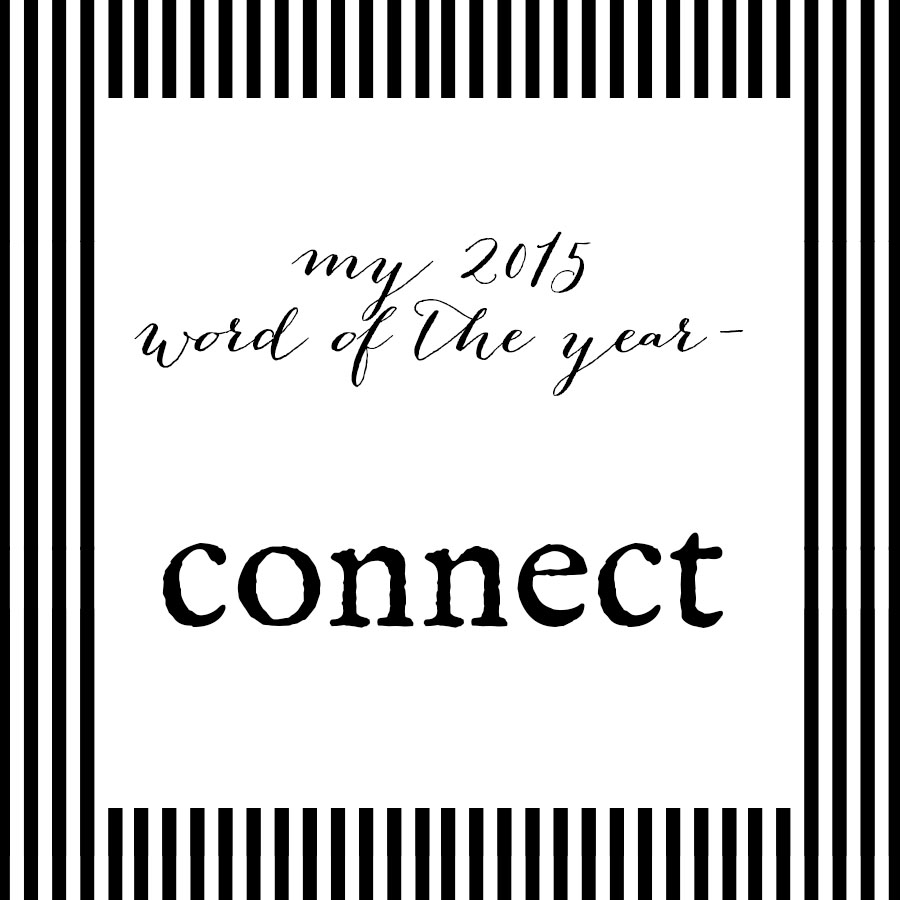 2015 word of the year- connect