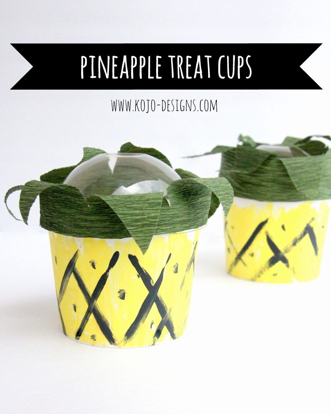 Luau food ideas- these DIY pineapple treats cups are the perfect addition to any luau (or Endless Summer party!)