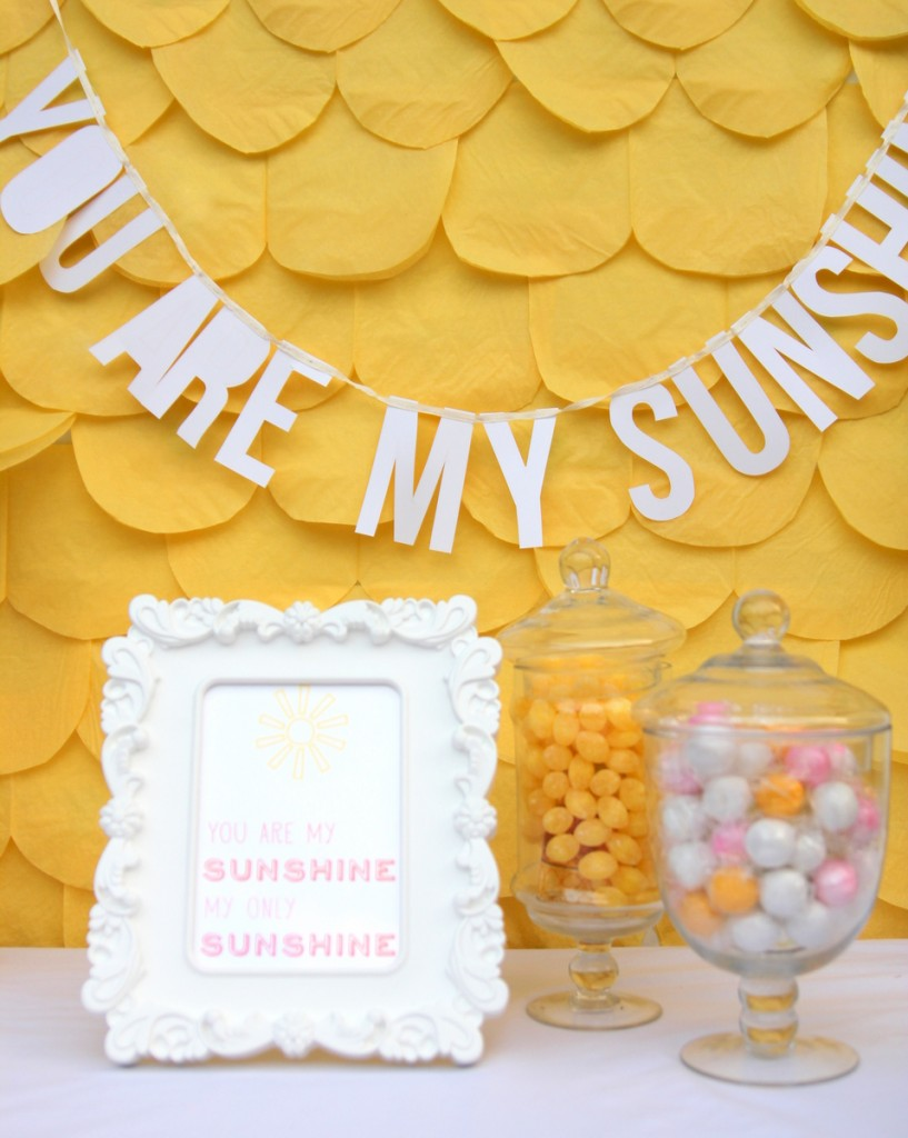 You Are My Sunshine Shower (and a bunch of cheerful spring baby shower ideas). I especially love the way these baby shower ideas could apply to every shower (or party) you throw!
