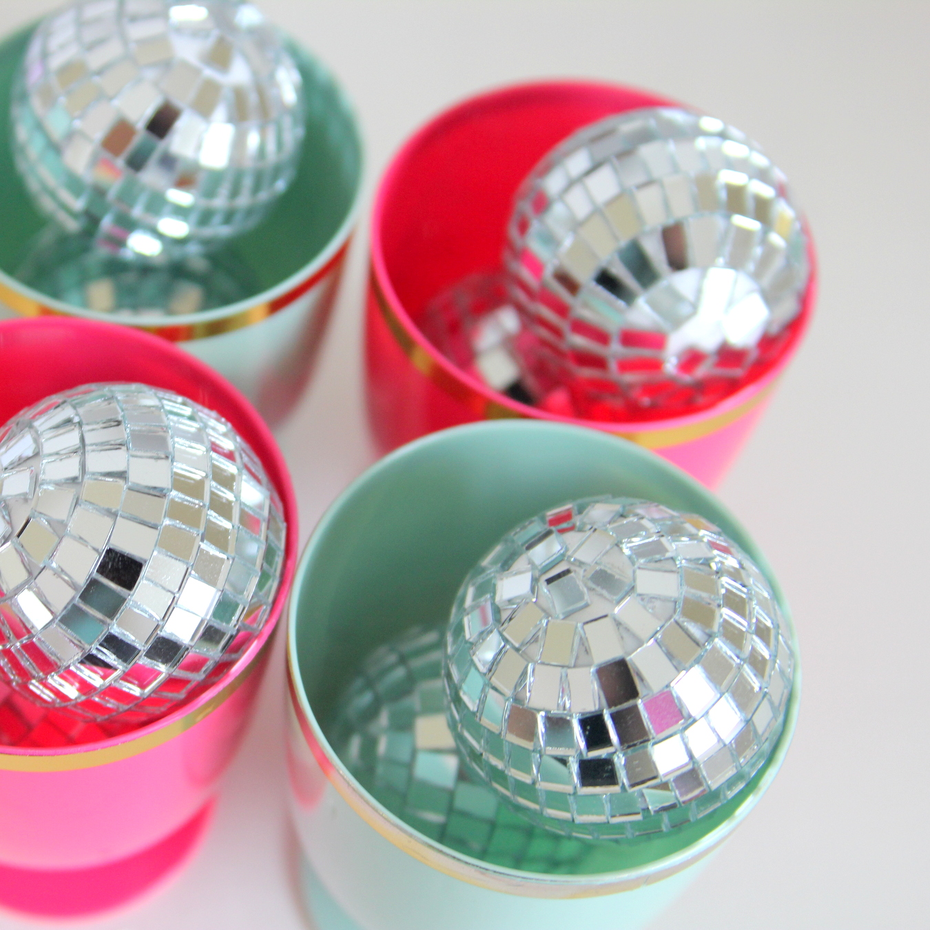 Time to party like a rock star! This sweet rock star birthday party includes all sorts of party ideas- like the abundance of disco balls!