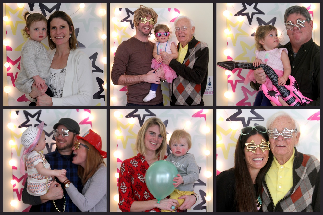 Time to party like a rock star! This sweet rock star birthday party includes all sorts of party ideas- like this cute 'paparazzi' photo booth!