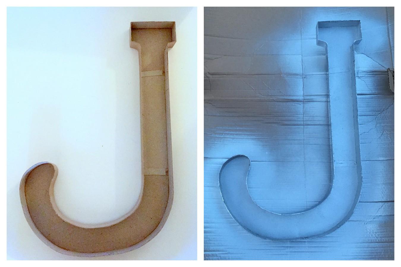 Make a monogram for wall decor