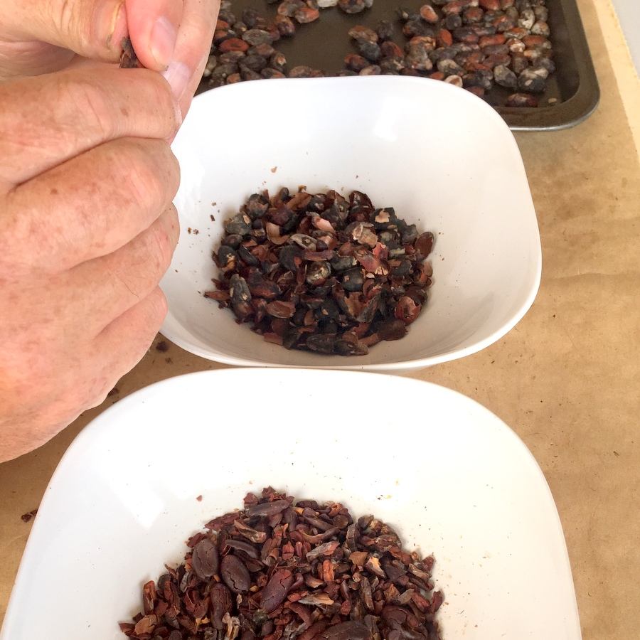 how to make cocoa powder from cacao beans