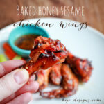 baked honey sesame wings