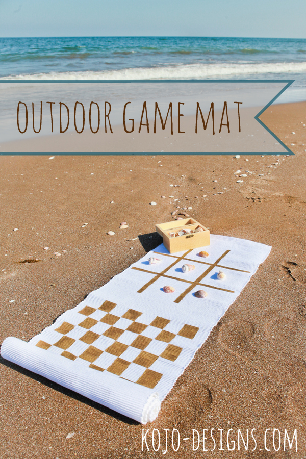 This DIY outdoor classic game board is the perfect way to put your shell collection to good use!