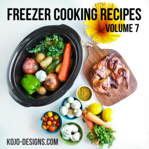 Overwhelmed by the idea of cooking from scratch every night? You don't have to be! With one afternoon, a little planning, and some chopping, you'll have a whole lineup of yummy dinners ready to pop into the crockpot or oven whenever you're ready. Head on over to kojodesigns to get all the recipes.