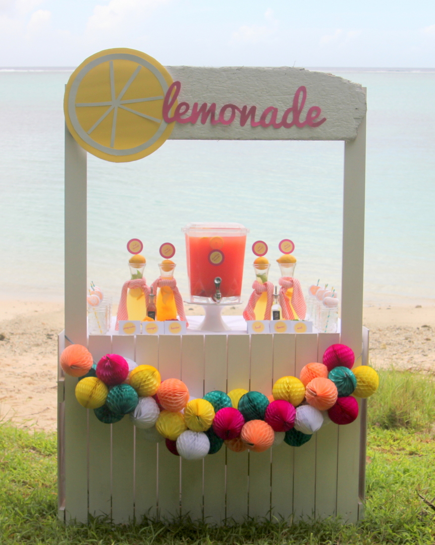 Looking for a refreshing drink station for a beach-y party (or wedding)? This lemonade bar is perfection!
