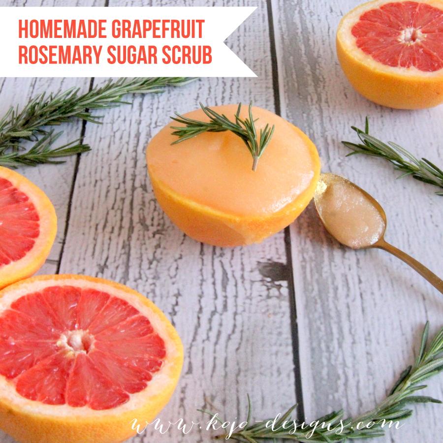 DIY gift idea- homemade grapefruit rosemary sugar scrub