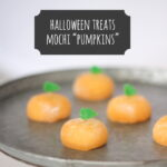 halloween treat idea- mochi 'pumpkins'
