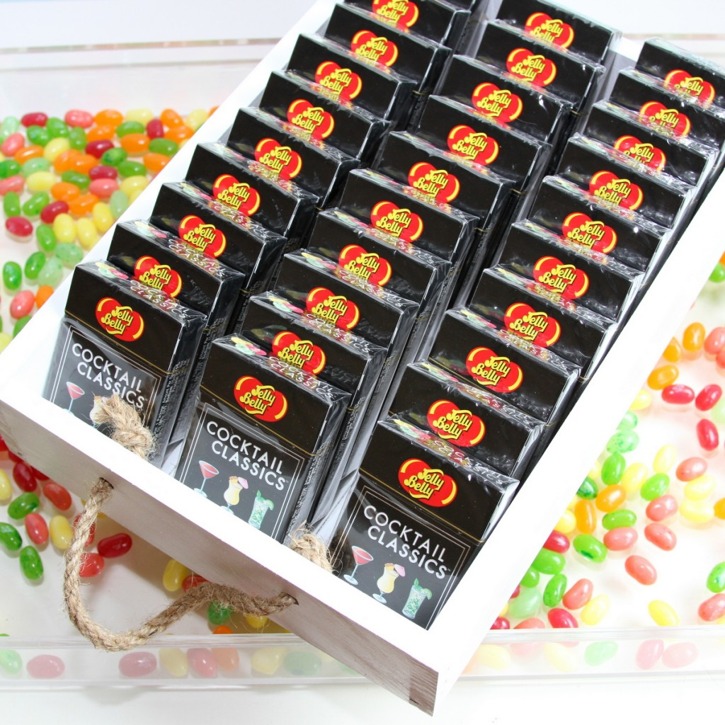 favors at a science themed party- jelly belly jelly beans!