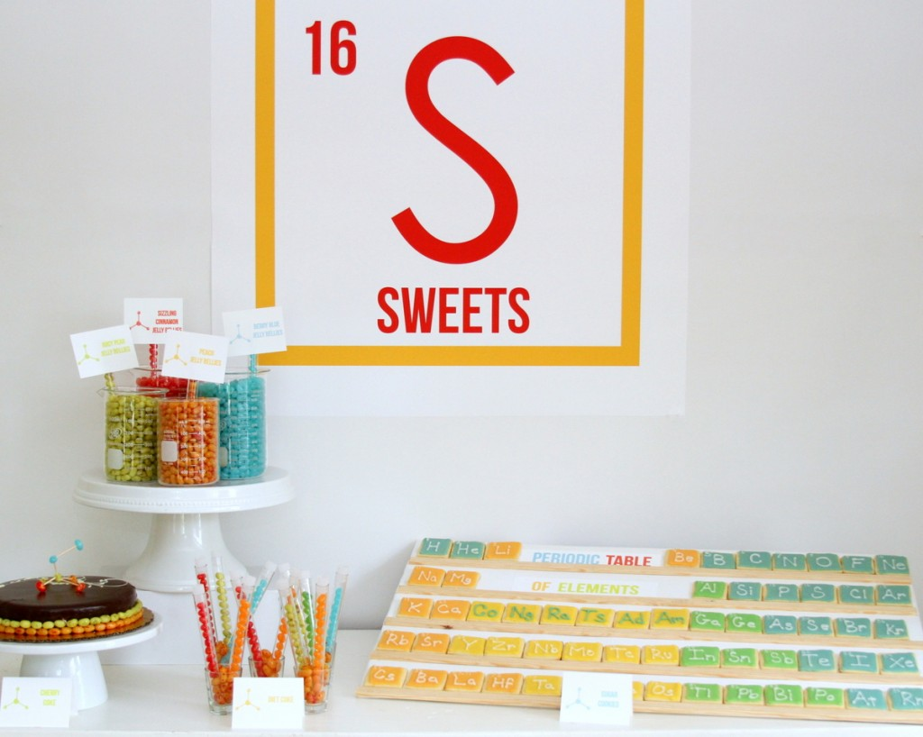 science themed graduation party- I think anyone would be interested in the periodic table in cookie form!