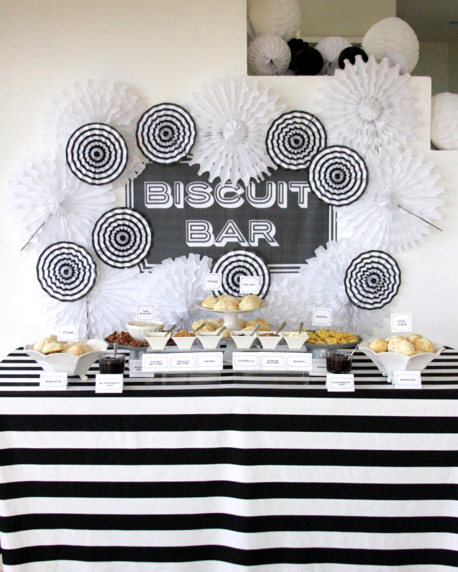 the best brunch station- a biscuit bar with all the fixins'