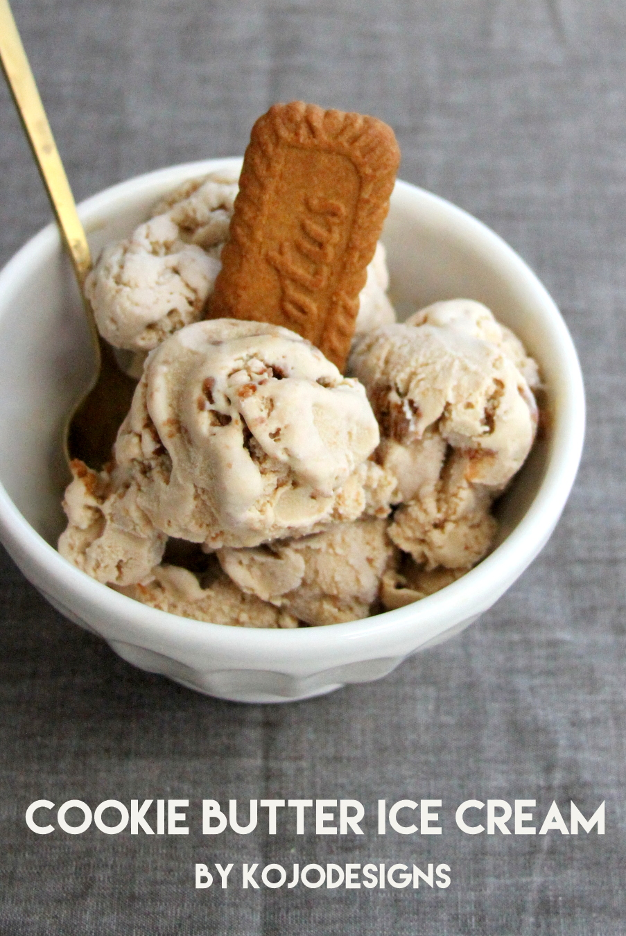 homemade cookie butter ice cream recipe (aka- the best thing I've ever tasted)