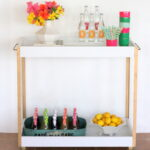 easiest ever DIY bar cart
