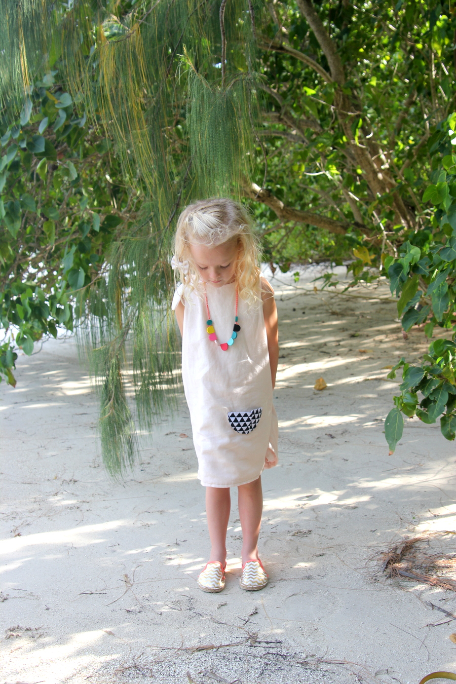easy reversible linen dress
