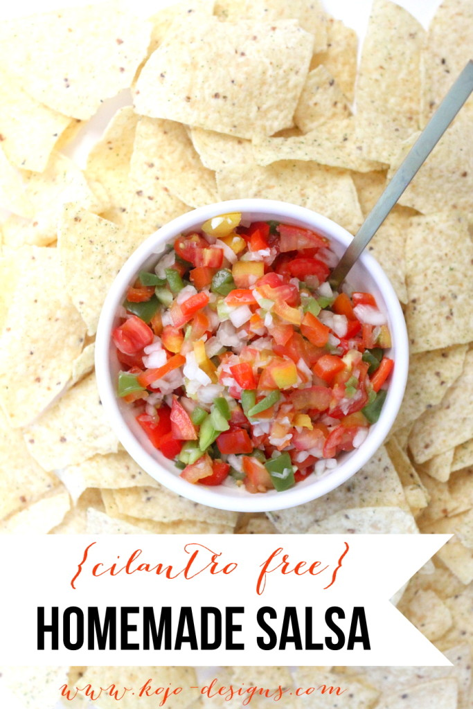homemade cilantro-free pico de gallo salsa recipe (so yummy even cilantro-lovers will eat this by the bowlful!)