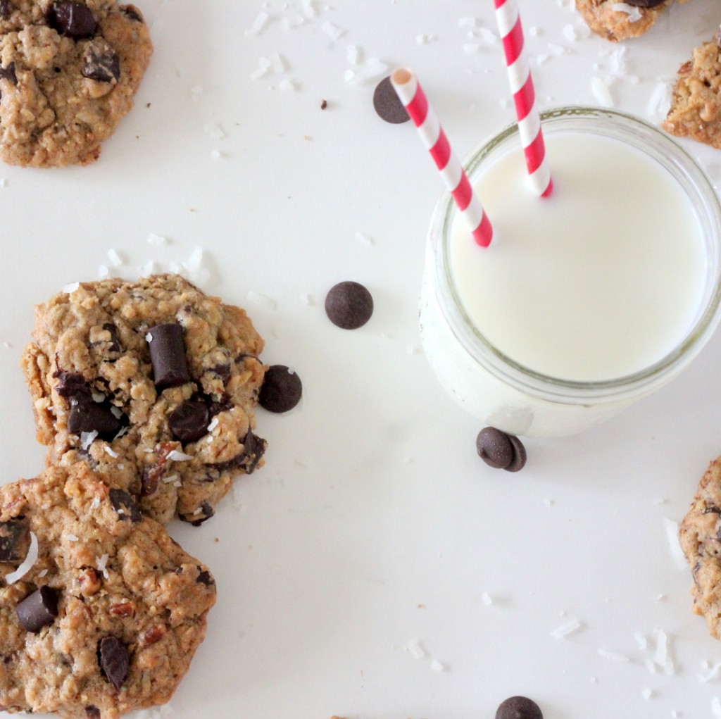 These cowboy cookies are loaded with oats, chocolate, pecans and coconut. And maybe magic or something (they're seriously SO good)!