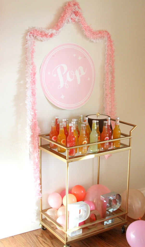 "Looking for an easy (and inexpensive!) way to add ""wow"" to your next party? This Soda Pop Bar is perfection! So cute, but easy on the budget and on the prep time."
