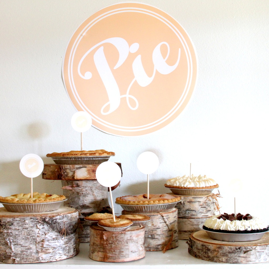 what you need at your thanksgiving spread- tons of PIE (post includes free pie poster downloads until Thanksgiving!)