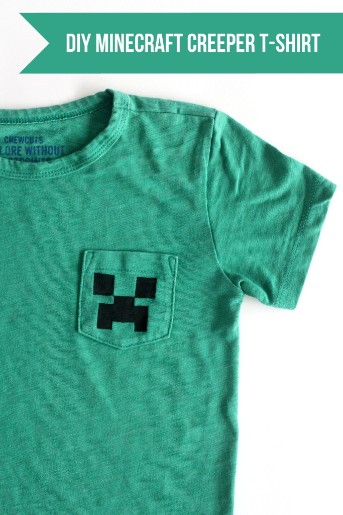 last minute DIY boy gift idea- this Minecraft creeper shirt takes about 20 minutes to put together!