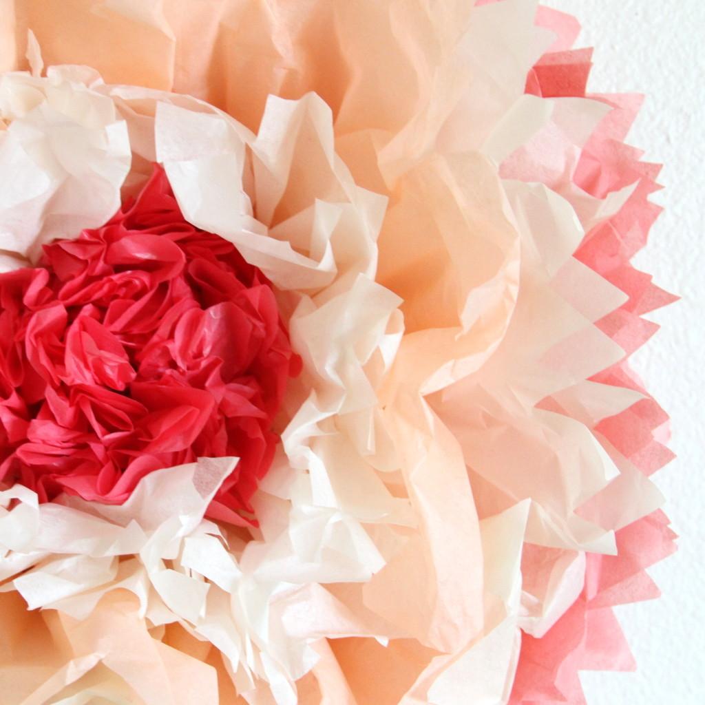 How to make giant tissue paper flowers izmirmasajfo