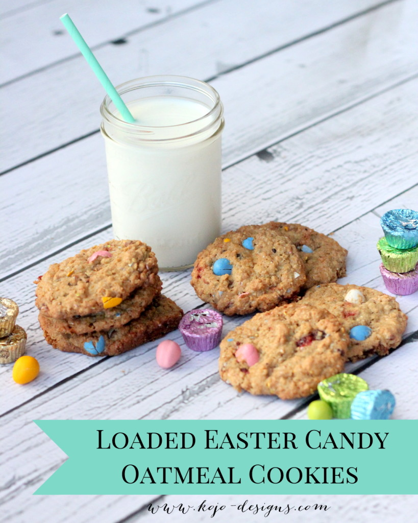 Looking for the perfect Easter treat (or just a great way to use up a pile of Easter candy)? Look no further than these loaded Easter candy oatmeal cookies!