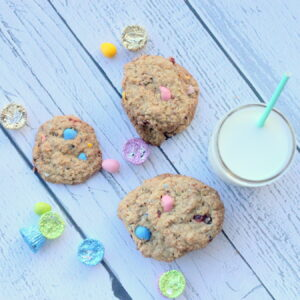 loaded oatmeal cookies (with Easter candy!)