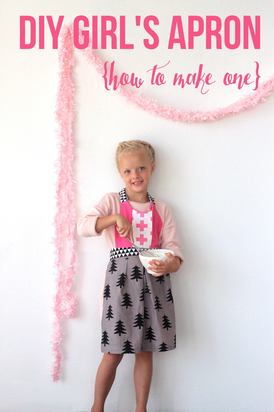 little girl's apron tutorial