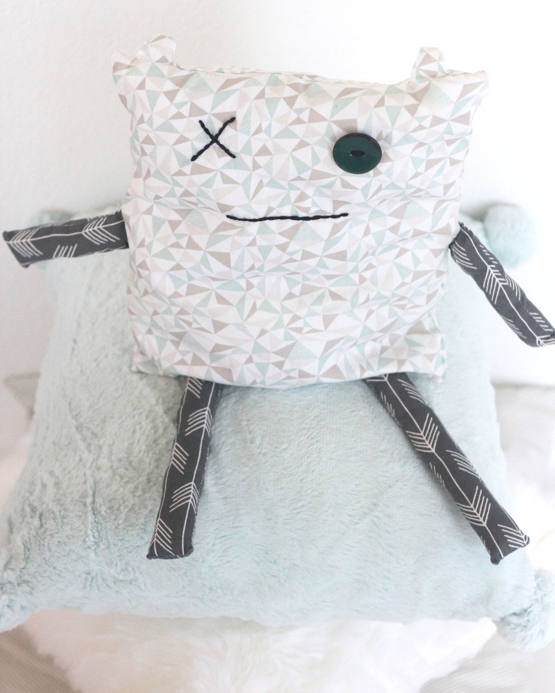 how to make a monster softie (inspired by a kid's drawing)
