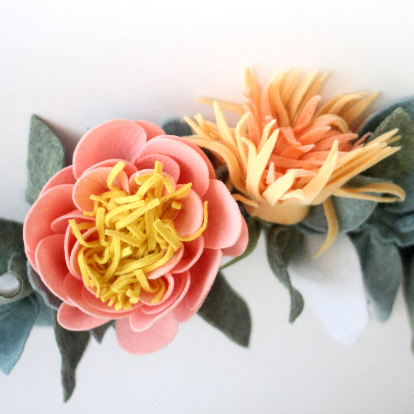 How to make the most beautiful felt flower garland the most beautiful felt floral garland and how to make one izmirmasajfo