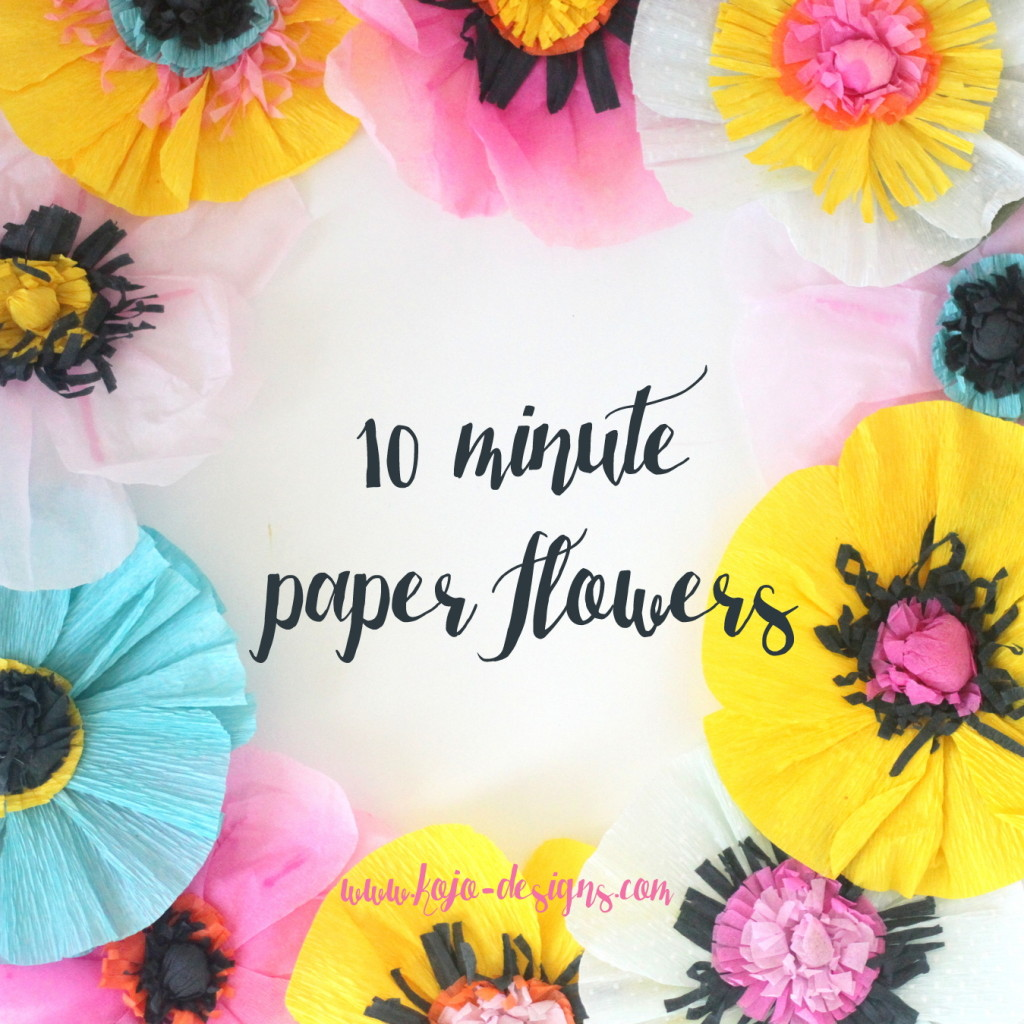 How to make paper flowers the easiest ever 10 minute version dhlflorist Images