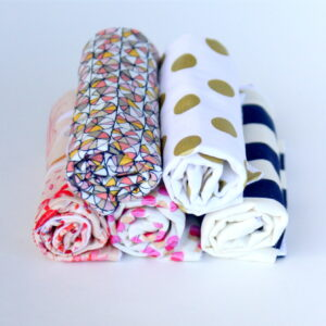 quick and easy DIY burp cloths