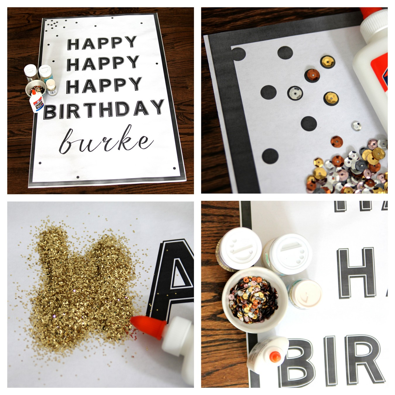 birthday party decor idea- make this poster for $3!