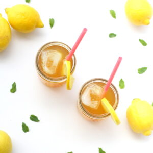 what we're drinking- sugar free green tea arnold palmers