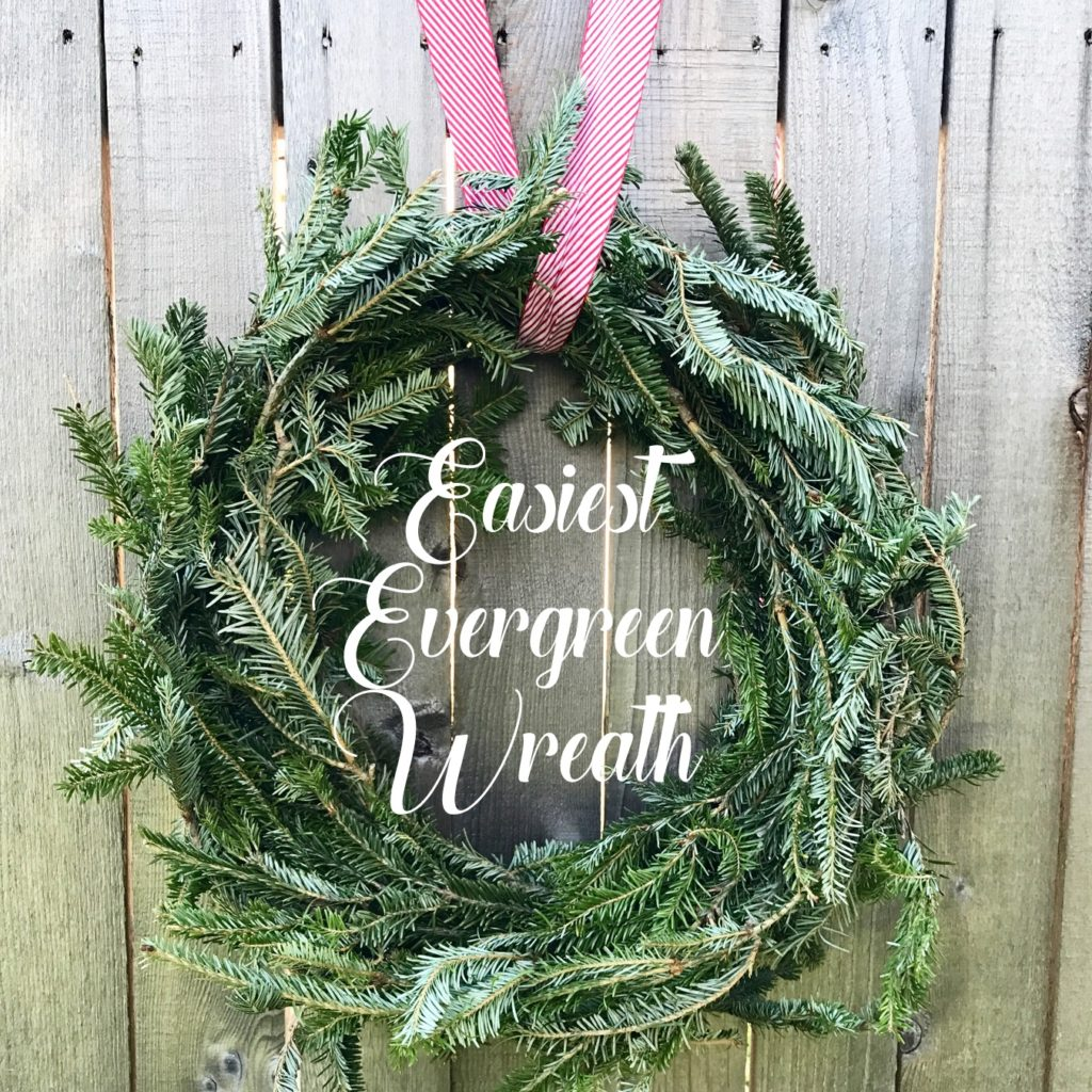 how to make a wreath in half an hour (for free!)