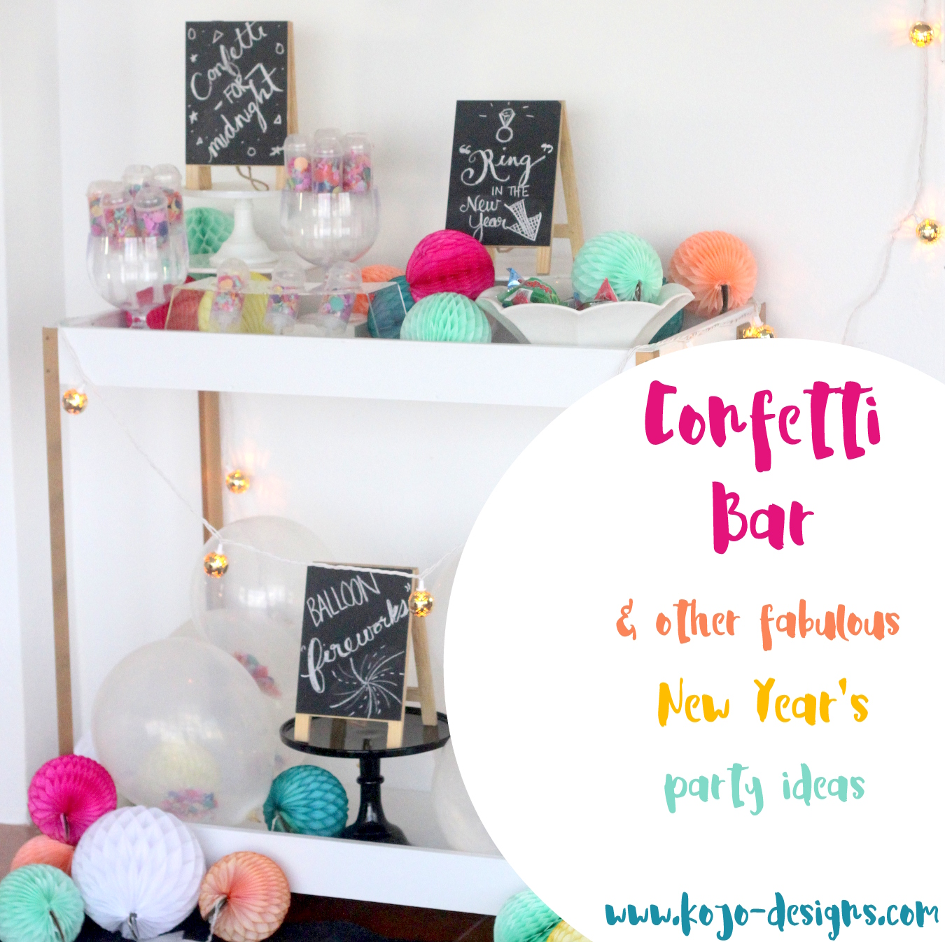 a confetti bar (and other new year's party ideas!)