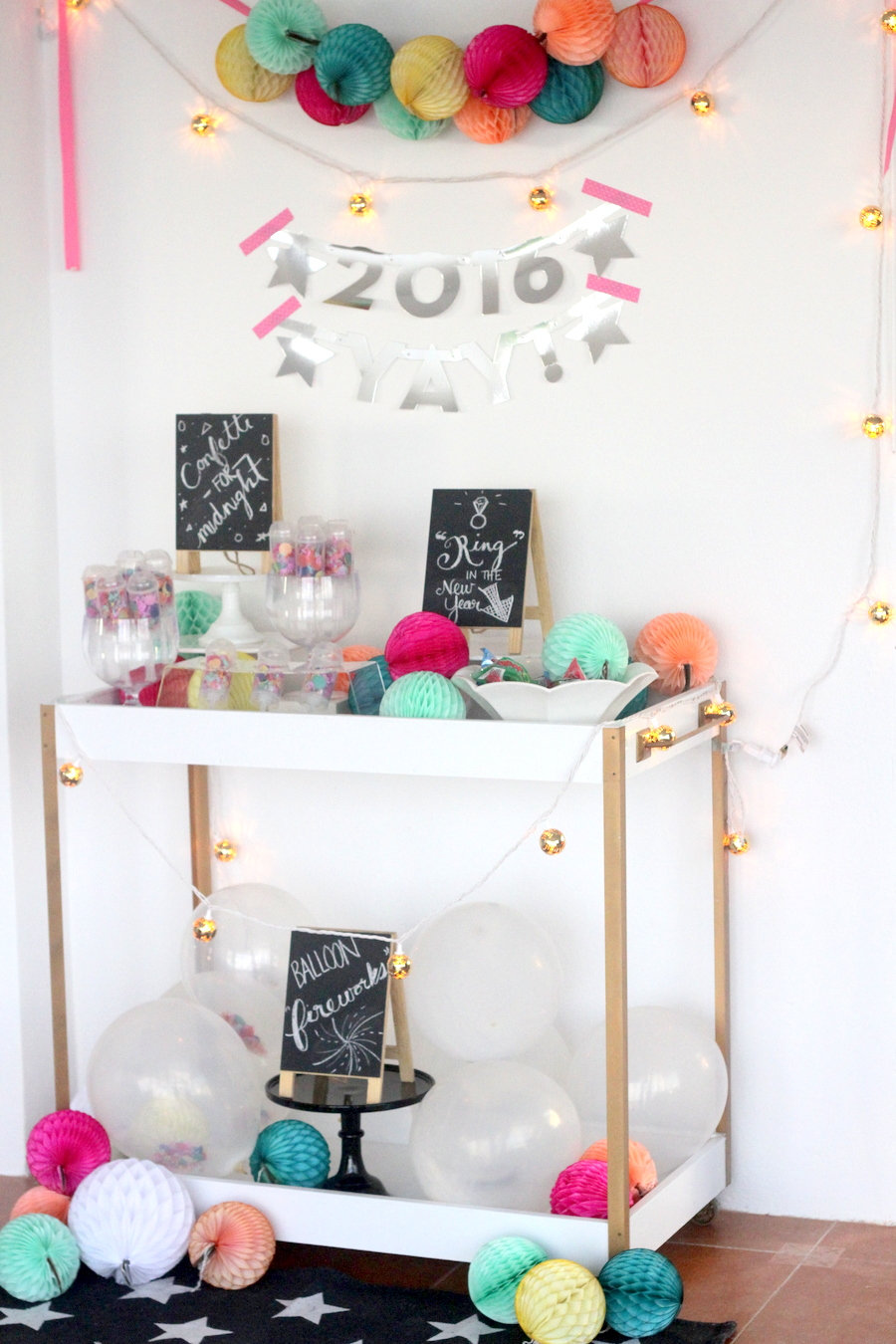 a confetti bar (and other new year\'s party ideas!)
