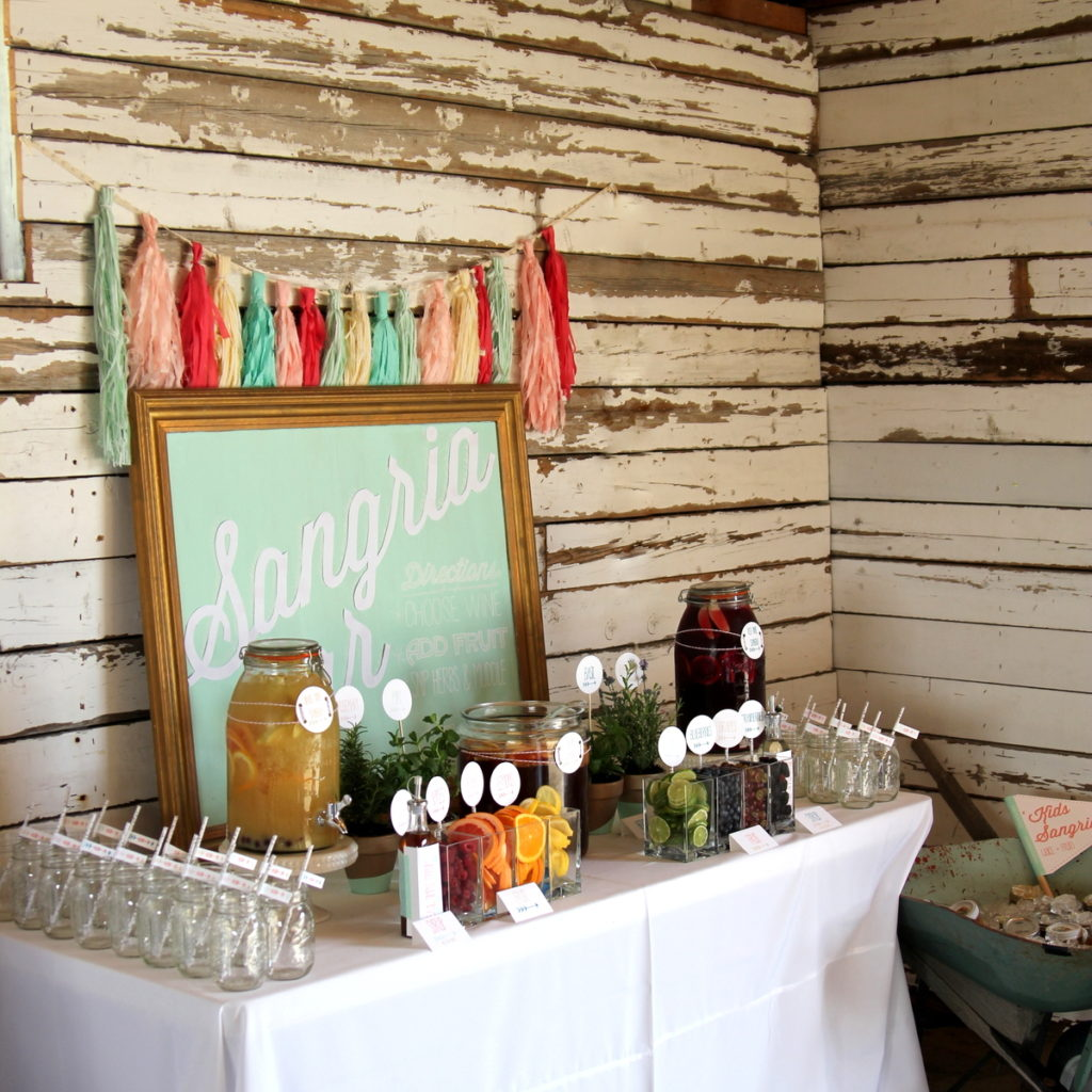 how to make a sangria bar for a party or wedding
