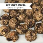new year's cookies- yummy and sugar free (all the 'sweet' comes from bananas)