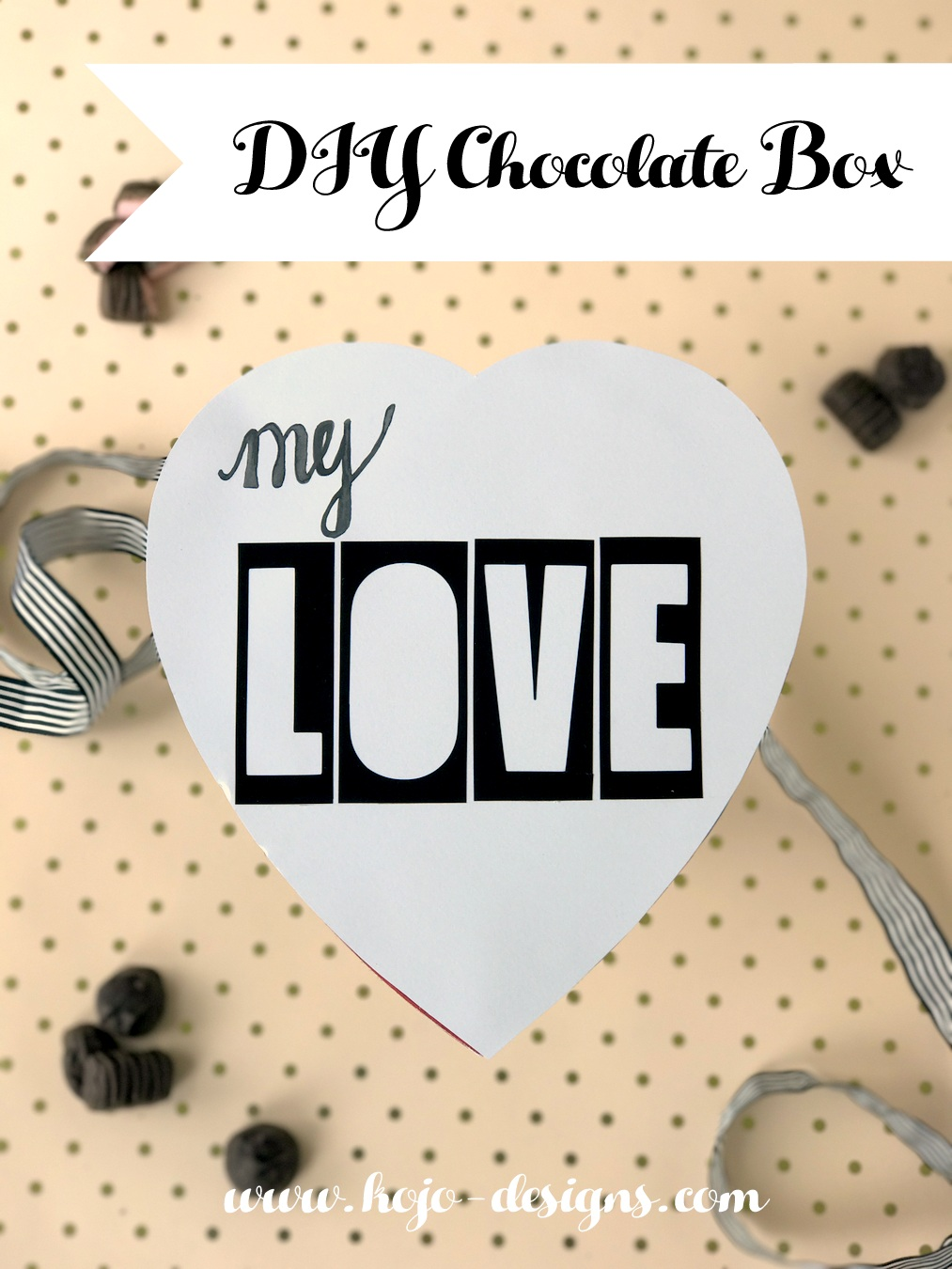 DIY valentine's chocolate box makeover