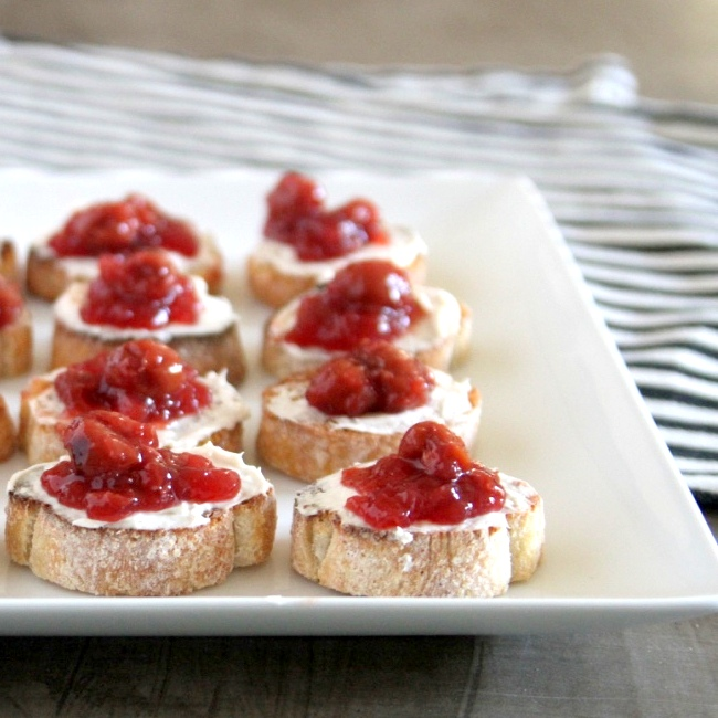 tart cherry bruschetta recipe