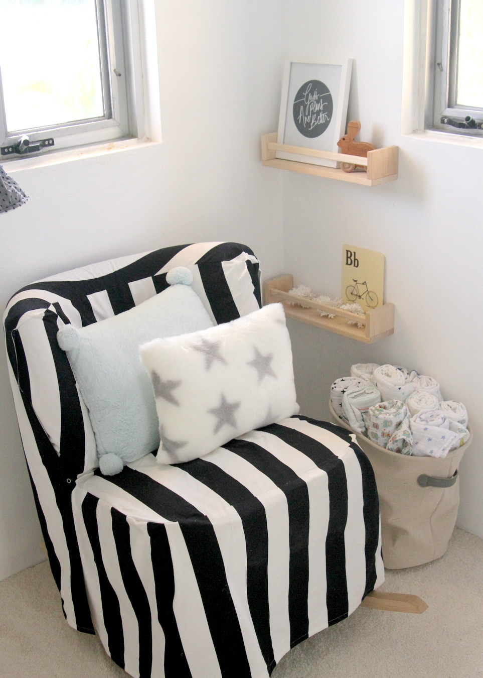 tiny nursery 'nook' (with tons of DIY details!)