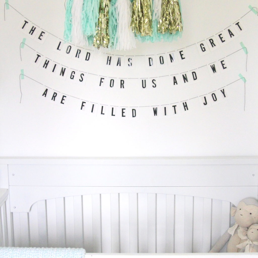 psalm 126 nursery decor garland
