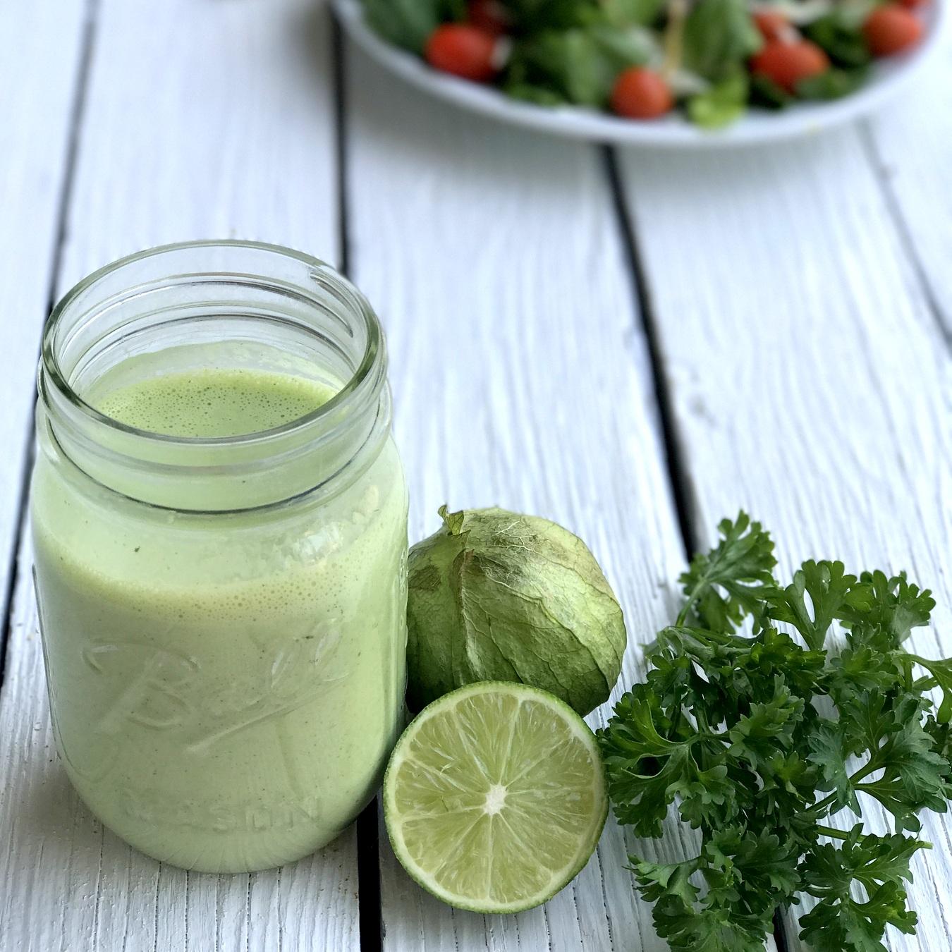 homemade tomatillo ranch- like cafe rio (but without cilantro!)