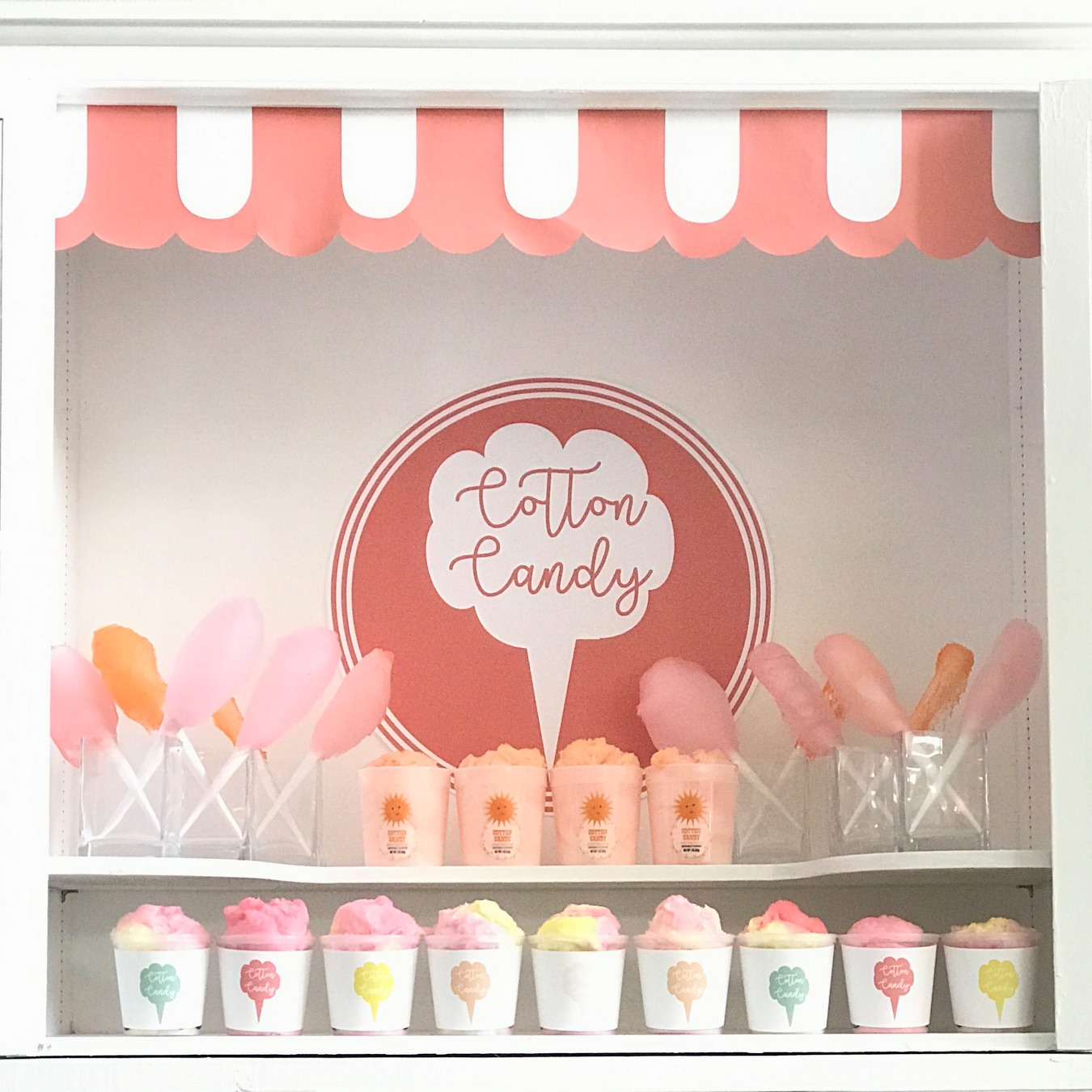A Cotton Candy Bar (the most fun dessert table)