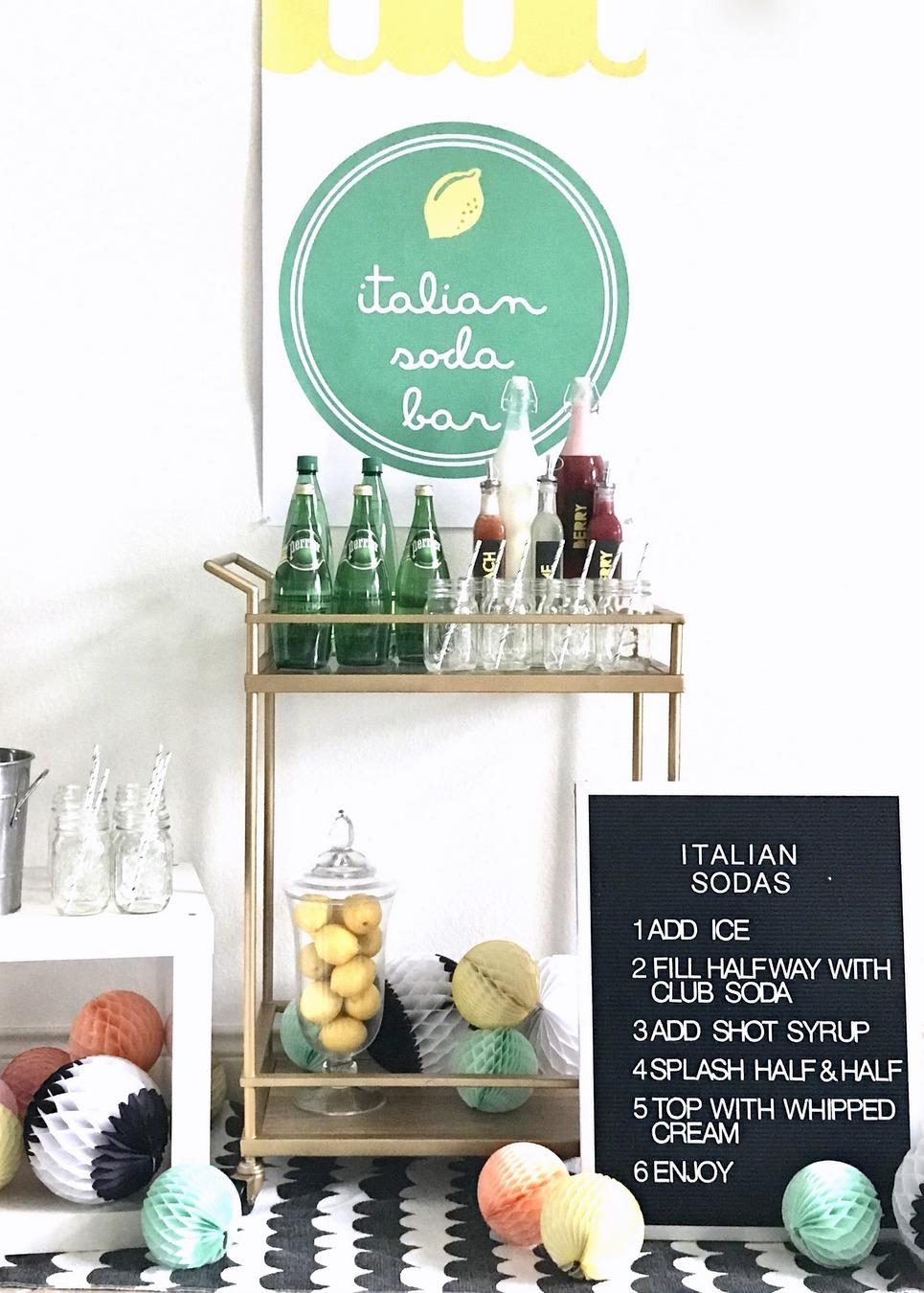make your own italian soda bar